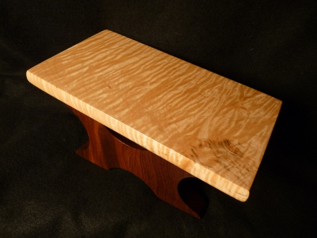 Curly maple and walnut